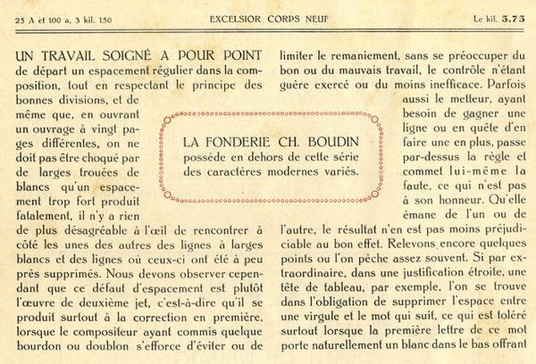 Excelsior Boudin. Exemple  n° 3