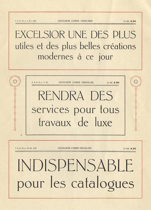 Excelsior Boudin. Exemple  n° 4