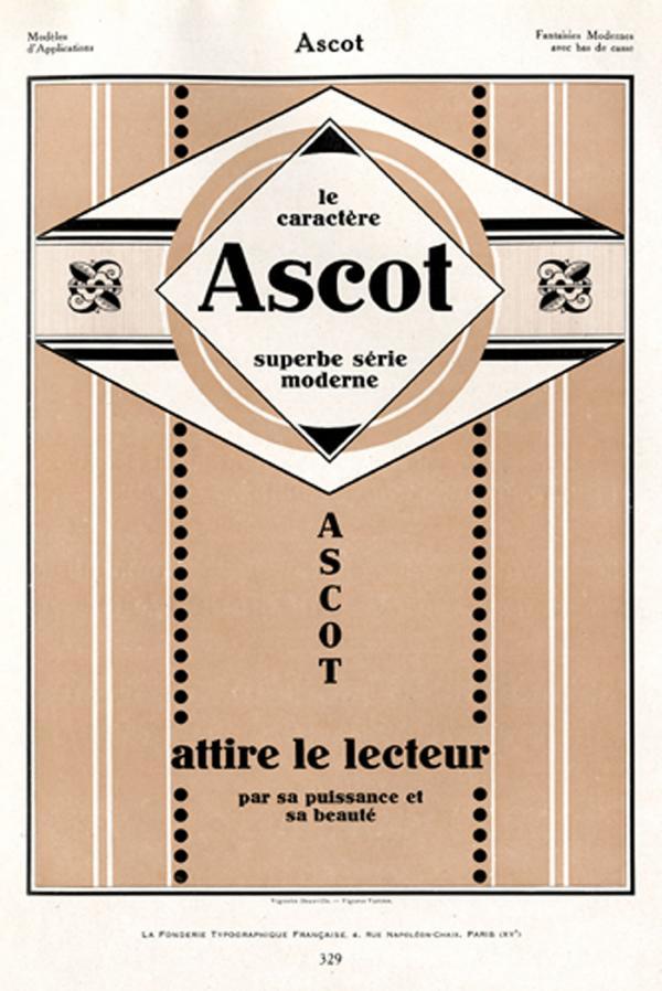 Ascot. Exemple  n° 3