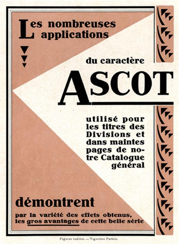 Ascot. Exemple  n° 4