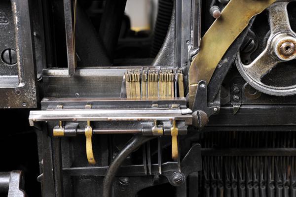 Machine Linotype. Exemple  n° 3