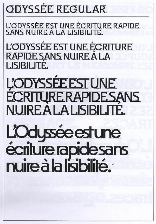 Odyssée. Exemple  n° 2