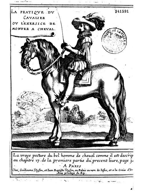 René de Menou, La pratique du cavalier, 1651 (BmL, 341591)
