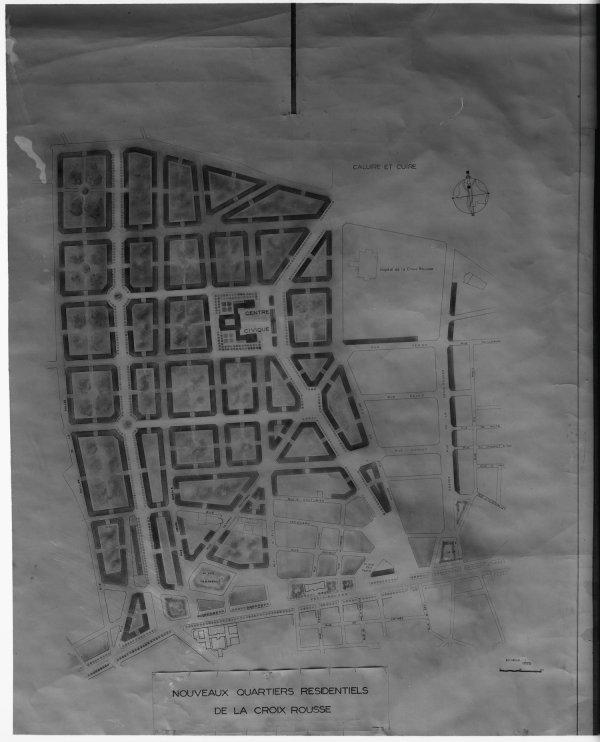 [Plan des nouveaux quartiers résidentiels de la Croix-Rousse]