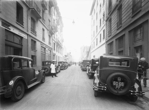 [Rue Barrier : Réception au garage G.A.S.E., concessionnaire des automobiles Buick et Chevrolet (groupe General Motors Corporation)]