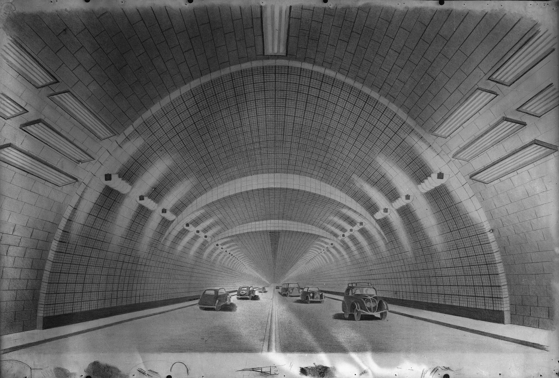 Photographes en rh ne alpes dessin du projet de tunnel for Construction de tunnel