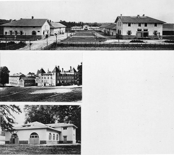 [Ecole d'agriculture de Cibeins : trois vues superposées des bâtiments]