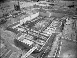 [Compagnie nationale du Rhône (CNR) : construction du port Edouard Herriot : fondations]