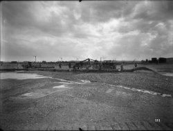 [Compagnie nationale du Rhône (CNR) : construction du port Edouard Herriot : canalisations]