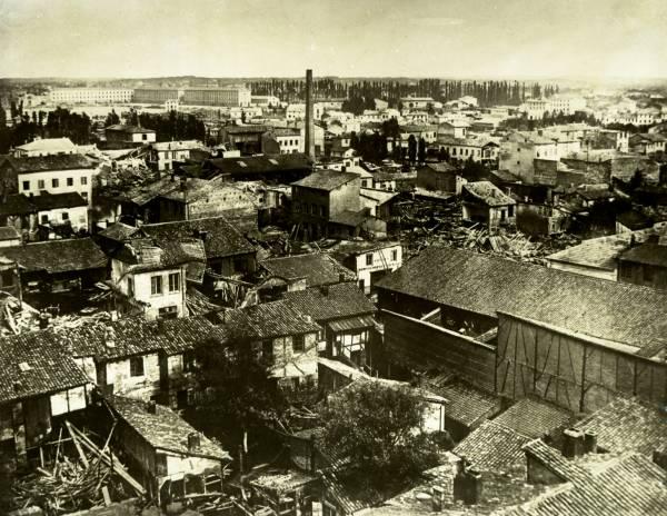[Vue des Brotteaux prise après les inondations de 1856]