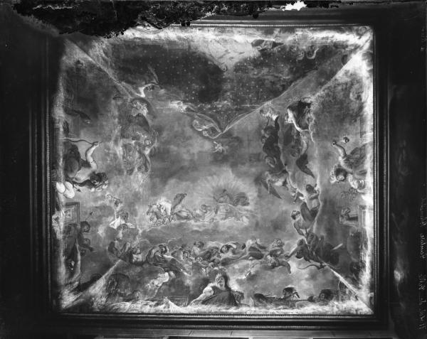 """[Hôtel de ville de Lyon. Voûte de l'escalier d'Honneur : """"L'Assemblée des Dieux""""]"""