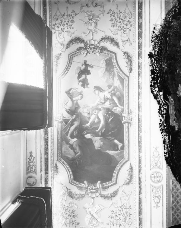[Hôtel de ville de Lyon : détail du plafond de la salle du Conseil]