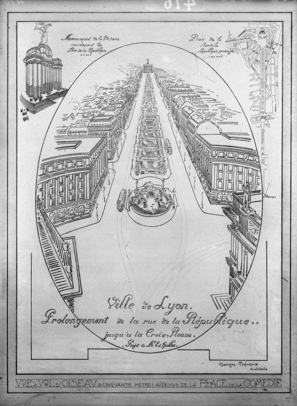 [Ville de Lyon. Prolongement de la rue de la République jusqu'à la Croix-Rousse. Projet de M. Ed. Guillon]