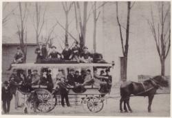 Départ de l'omnibus à Vaise