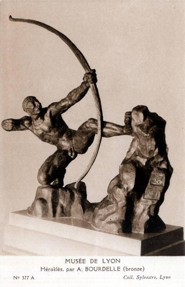 Musée de Lyon : Héraklès, par A. Bourdelle, bronze