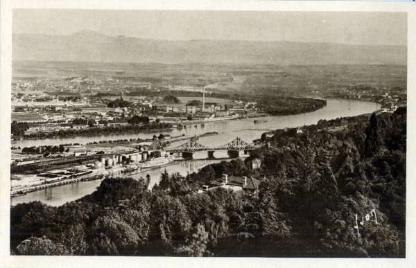 Lyon (Rhône) : Le Confluent du Rhône et de la Saône.