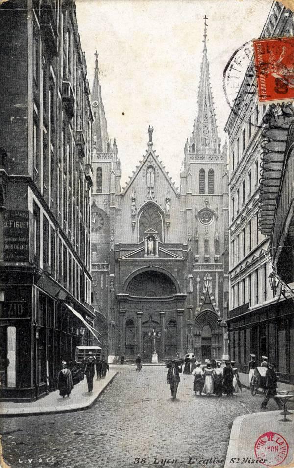 Lyon : L'église Saint Nizier.