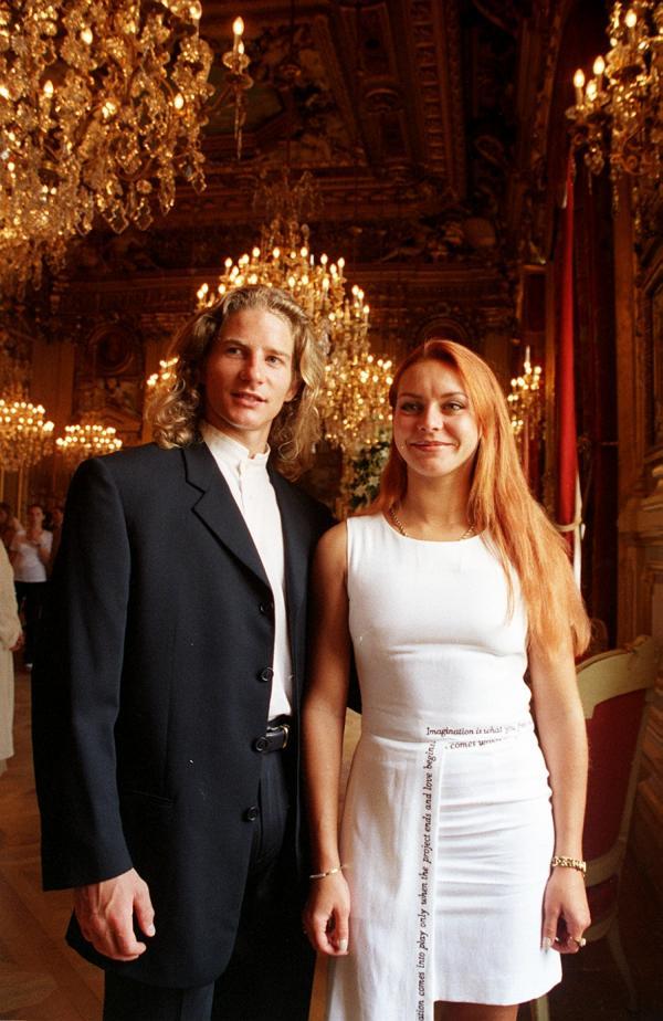 [Les champions du monde de danse sur glace reçus à l'hôtel de ville de Lyon]