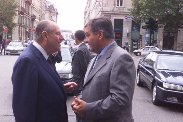 Raymond Barre et Michel Mercier