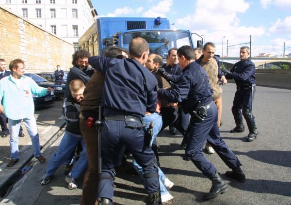 [Manifestation du personnel de justice à Lyon]