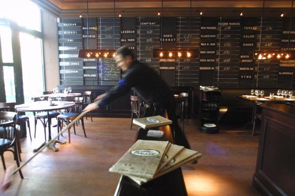 [Restaurant La Bourse, à Lyon]