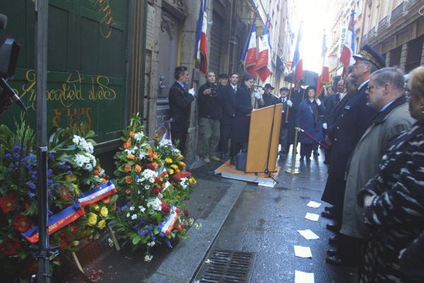 [Commémoration de la rafle de la rue Sainte-Catherine]