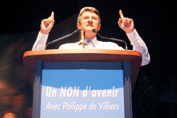 [Meeting de Philippe de Villiers à Villette-d'Anton pour le non à la constitution européenne]