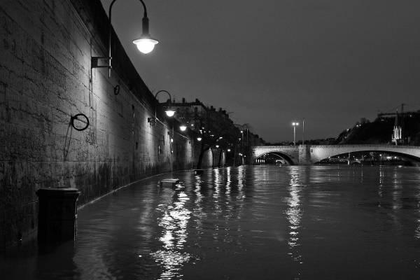 Quais de Saône : les eaux montent