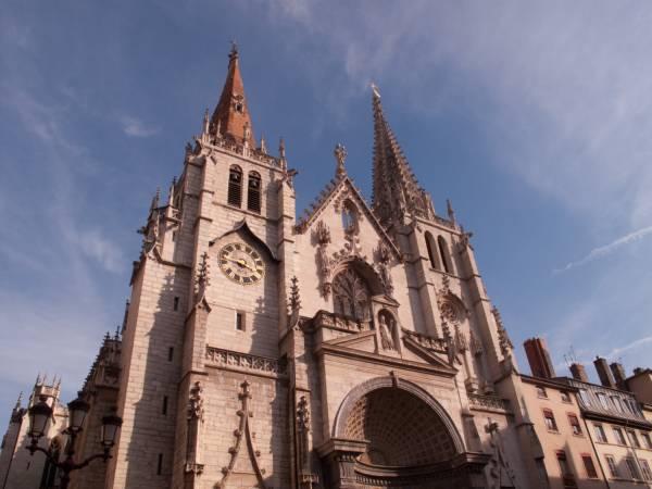 Eglise Saint-Nizier : façade occidentale
