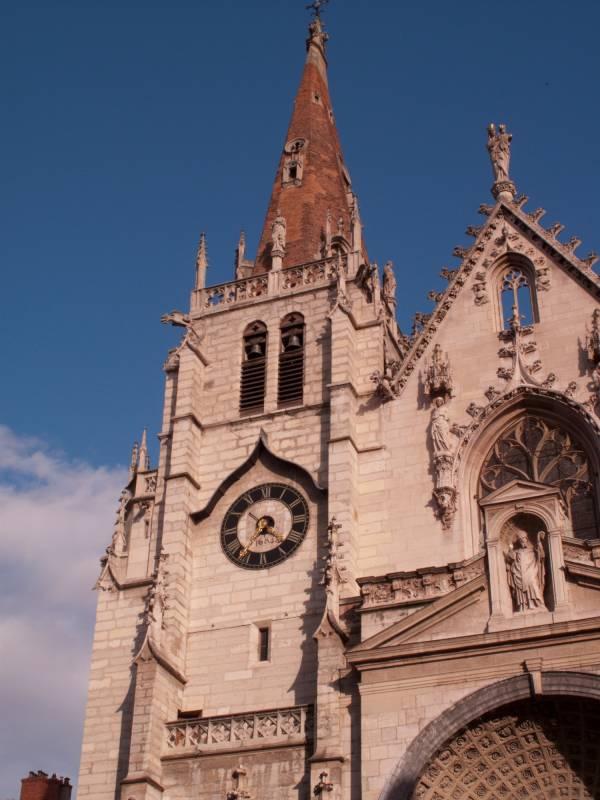 Eglise Saint-Nizier : horloge de la tour nord