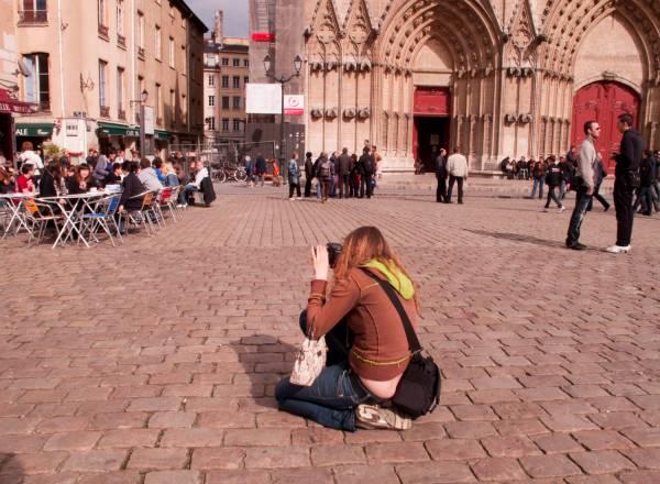 La Place Saint-Jean, à Lyon
