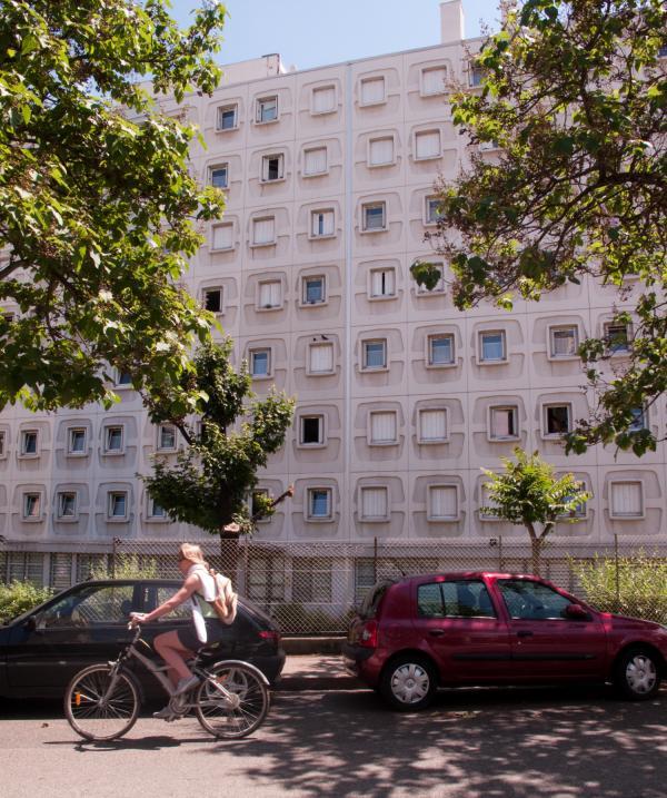 Immeuble de la rue Louis-Jouvet, à Lyon