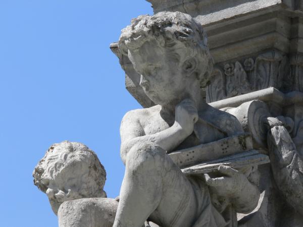 La fontaine de la place Lyautey : détail