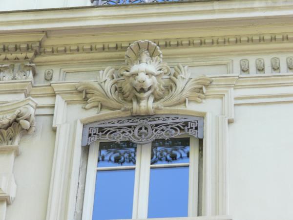 Immeuble de l'avenue de Grande-Bretagne : détail
