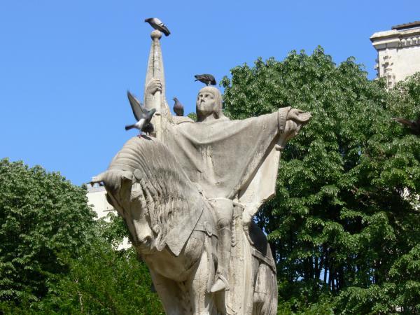 Statue équestre de Jeanne d'Arc, place Puvis-de-Chavannes