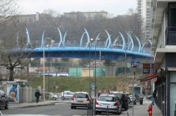 Le viaduc routier au dessus de la gare de Vaise