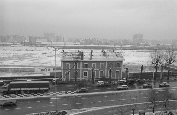 [L'ancienne gare de Lyon Part-Dieu sous la neige]
