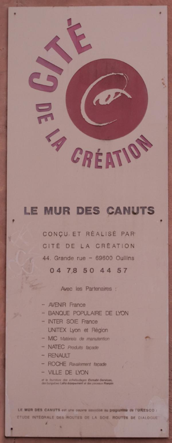Boulevard des Canuts : mur peint des Canuts