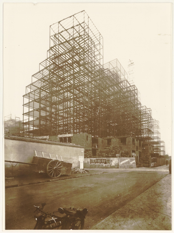 Photographes en rh ne alpes villeurbanne construction de l 39 ossature de - Construction gratte ciel ...