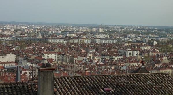 Vue des 7e et 8e arrondissements de Lyon