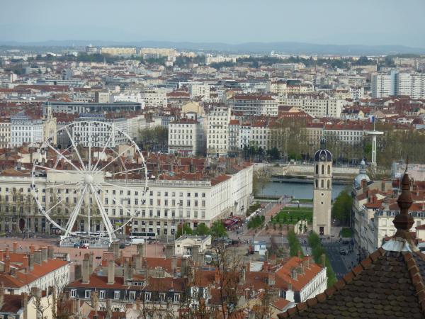 Vue des 2e et 3e arrondissements de Lyon