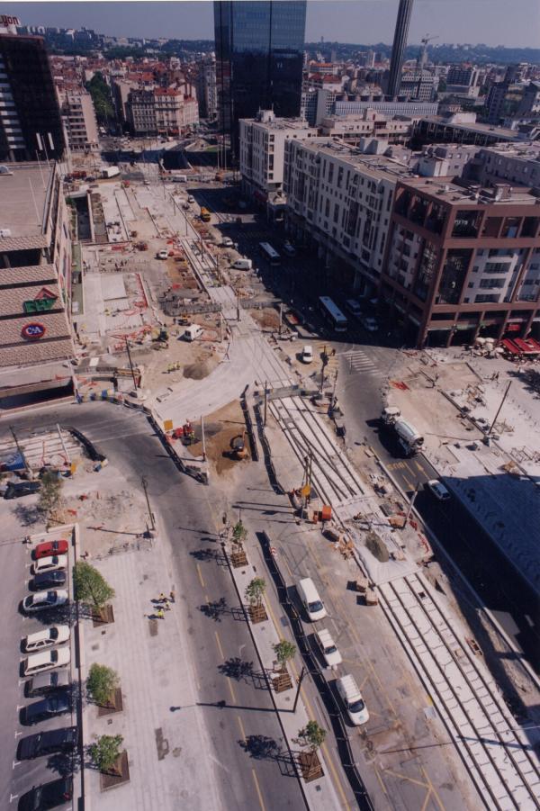 [Construction Tramway, boulevard Vivier-Merle]