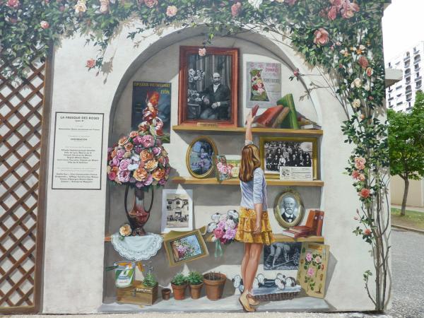 Fresque des Roses, Lyon 8e