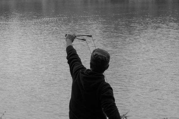 Pêcheur au Parc de la Tête-d'Or