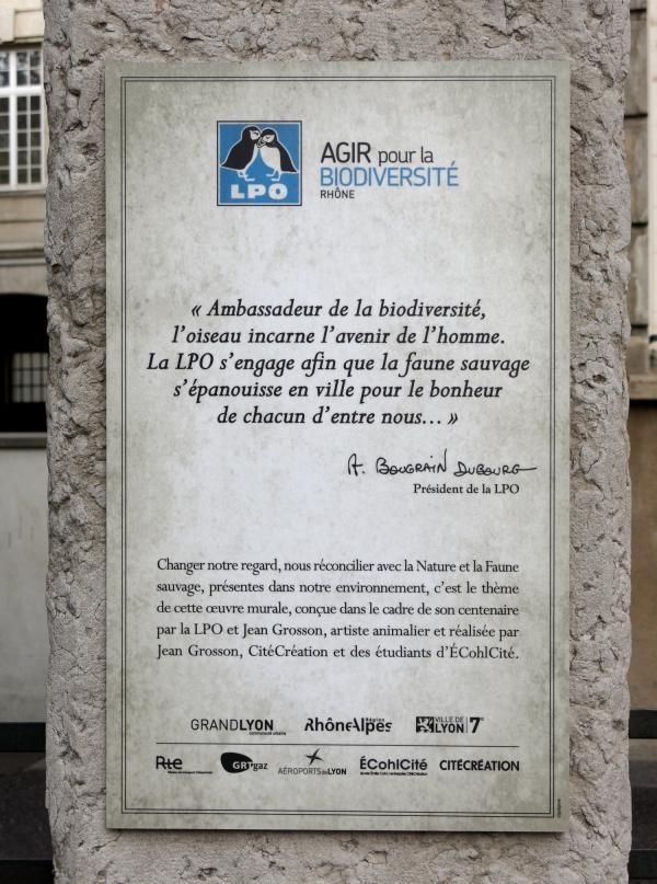 """Mur peint """"Agir pour la biodiversité"""" (Groupe scolaire Jean Macé)"""