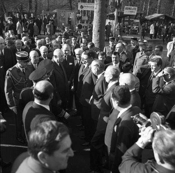 Inauguration de la Foire de Lyon par De Gaulle