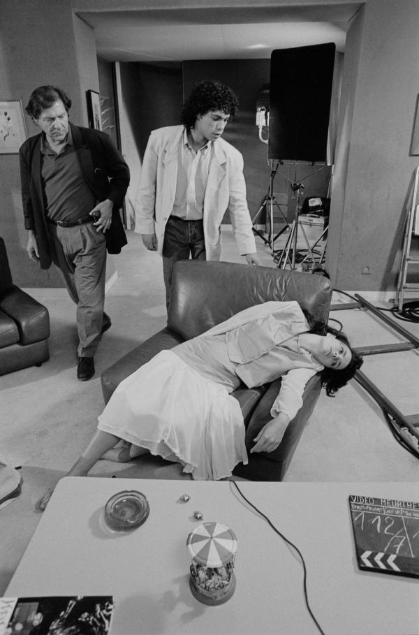 """[Sur le tournage du téléfilm """"Le Lyonnais"""", d'après René Belletto]"""