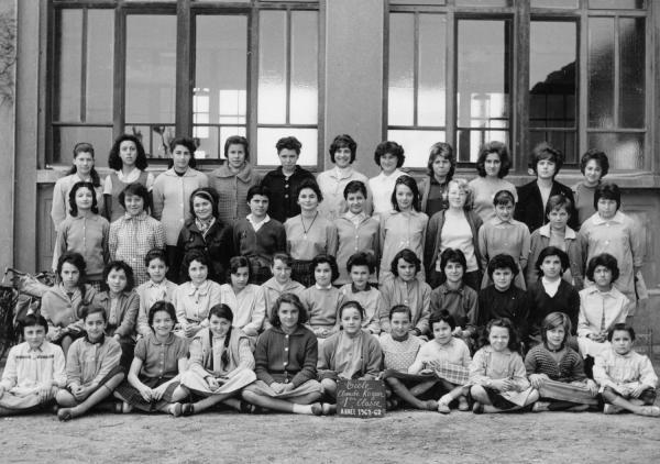 [Souvenir scolaire : école Claude-Kogan à Vaulx-en-Velin, 1re classe (année 1961-1962)]