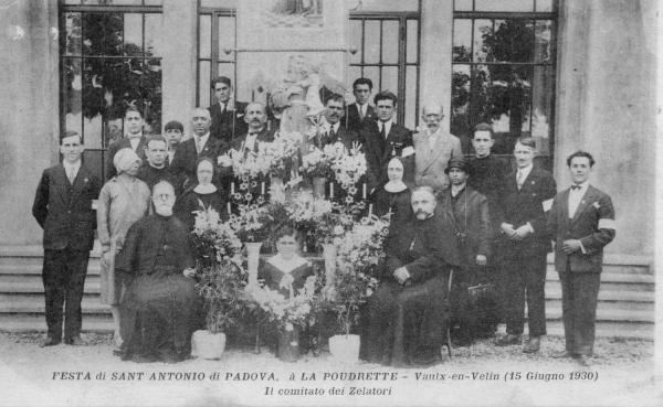 Festa di Sant Antonio di Padova, à la Poudrette - Vaulx-en-Velin (15  Giugno 1930). Il comitato dei Zelatori