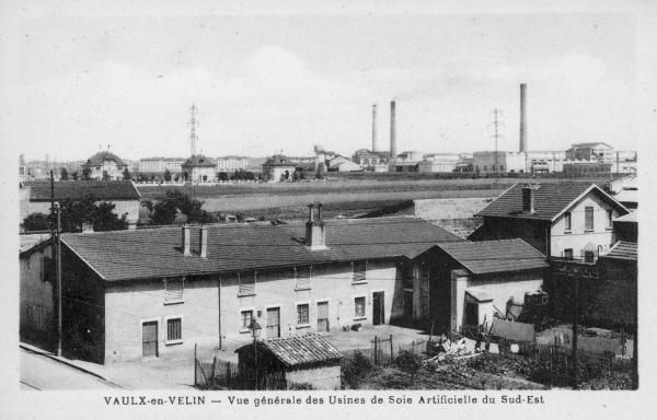 Vaulx-en-Velin. - Vue générale des usines de Soie artificielle du Sud-Est